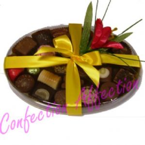 Hand Finished Belgian Chocolates Oval Box